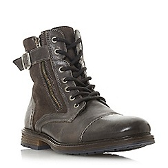 Dune - Grey 'Cleaveland' borg lined buckle boots