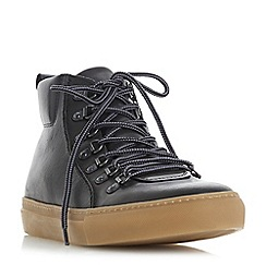 Dune - Black 'Snowdon' d ring high tops trainers