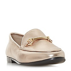 Dune - Gold leather 'Guiltt' loafers