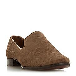 Dune - Natural leather 'Galiard' block heel loafers