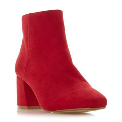 Head Over Heels by Dune block - Red 'Ohana' mid block Dune heel ankle boots fce415
