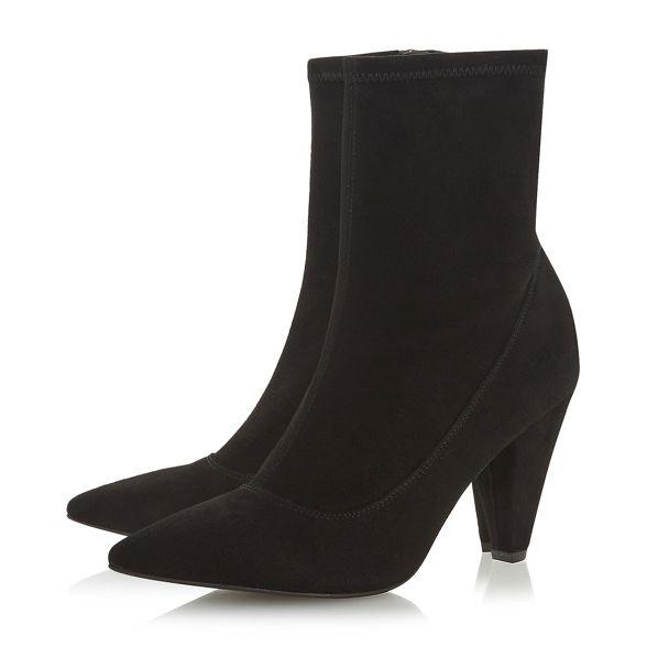 'Oxforde' block suede boots Black ankle Dune Black heel mid qvtq7