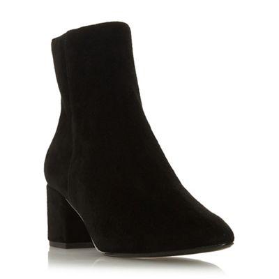 Dune - Black suede 'Omarii' boots mid block heel ankle boots 'Omarii' 40dd1e