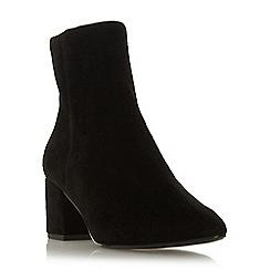 Dune - Black suede 'Omarii' mid block heel ankle boots