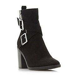 Head Over Heels by Dune - Black 'Oblyx' high block heel ankle boots