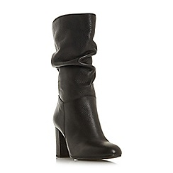 Dune - Black leatherRafaellie' mid block heel calf boots