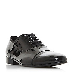Dune - Black 'Prevail' ribbon trim patent Oxford shoes