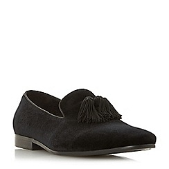 Dune - Navy 'Parlour 1' tassel detail slipper cut loafers