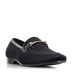 Dune - Black 'Pretzel' velvet snaffle loafers