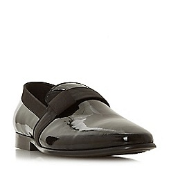 Dune - Black 'Persist' ribbon detail slipper cut loafers
