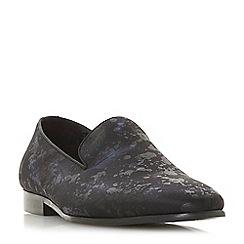 Dune - Black 'Pintail' leaf print slipper loafers