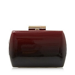 Dune - Red 'Balayage' patent ombre clutch bag