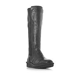 Dune - Black suede 'Trudy' knee high boots