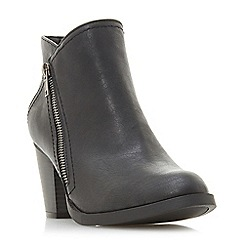Head Over Heels by Dune - Black 'Pintos' mid block heel ankle boots