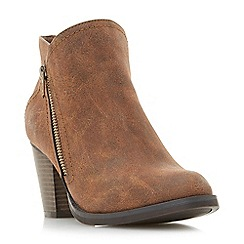 Head Over Heels by Dune - Tan 'Pintos' mid block heel ankle boots