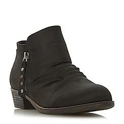 Head Over Heels by Dune - BlackPortis' mid block heel ankle boots