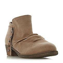 Head Over Heels by Dune - TaupePortis' mid block heel ankle boots