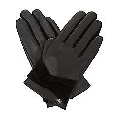 Dune - Black 'Ireland' bow detail gloves