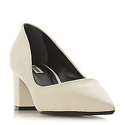 7647759b100 Dune - Cream leather  Arve  mid block heel court shoes