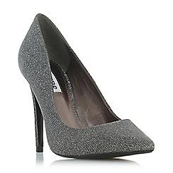 Dune - Silver 'Amarettii' high stiletto heel court shoes