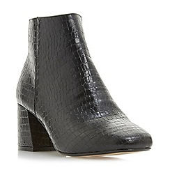 Head Over Heels by Dune - Black 'Ohana' mid block heel ankle boots