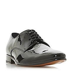Dune - Black 'Percival' leather sole gibson shoes