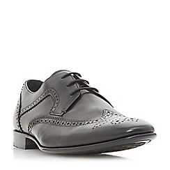 Dune - Black 'Pheasant' contrast panel brogues