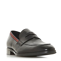 Dune - Black 'Pantomine' stripe detail penny loafers