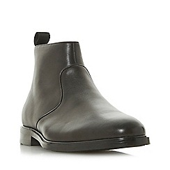 Dune - Black 'Mime' stripe trim zip boot