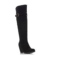 Roberto Vianni - Black 'Tina' mid wedge heel knee high boots