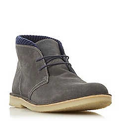 Dune - Grey 'Clove' fabric collar desert boots