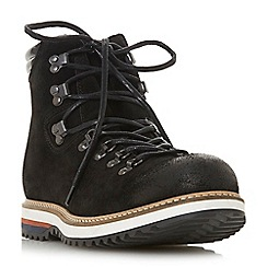 Dune - Black 'Challen' d ring hiker boots