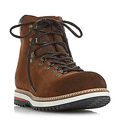 Dune - Brown 'Challen' d ring hiker boots