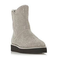 Dune - Grey suede 'Pina' ankle boots