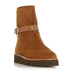 Dune - Tan suede 'Pinata' ankle boots