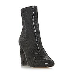 Head Over Heels by Dune - Black 'Reeta' mid block heel calf boots