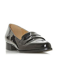 Head Over Heels by Dune - Black 'Gisell' block heel loafers
