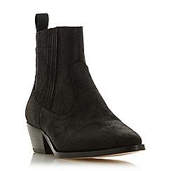 Head Over Heels by Dune - Black 'Pavel' mid block heel ankle boots