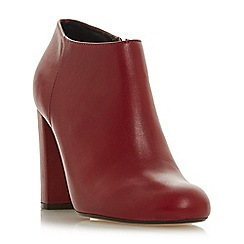 Dune - Red leather 'Outrageous' high block heel ankle boots