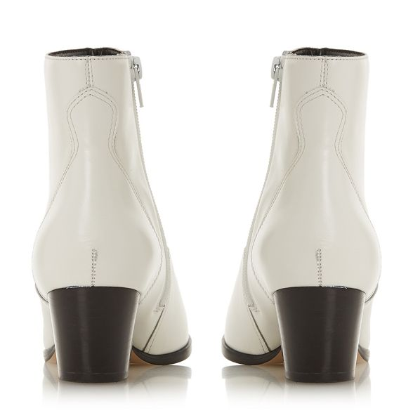 block leather White ankle 'Prairrie' Dune boots heel mid gqpPInI