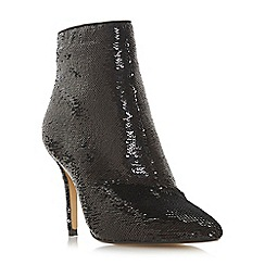 Head Over Heels by Dune - Black 'Orbits' high stiletto heel ankle boots