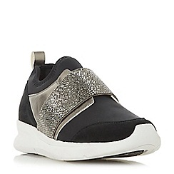 Dune - Black 'Excitable' casual trainers