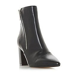 Head Over Heels by Dune - Black 'Olla' mid block heel ankle boots