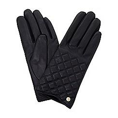 Dune - Navy 'Imerelda' quilted glove