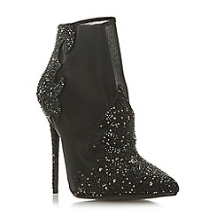Dune - Black 'Ophelea' high stiletto heel ankle boots