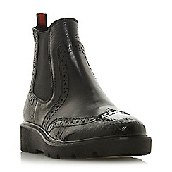Dune - Black leather 'Palomo' ankle boots