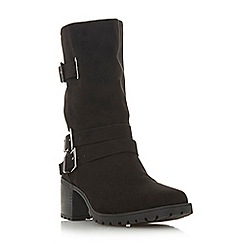 Head Over Heels by Dune - Black 'Rosie' block heel shoe boots