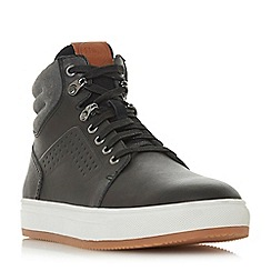 Dune - Black 'Sumac' collar detail high tops trainers