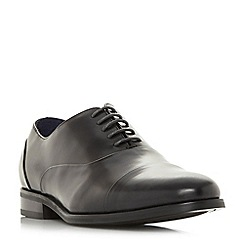 Dune - Black 'Wrobb' wide fit round toecap Oxford shoes