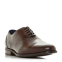 Dune - Brown 'Wrobb' wide fit round toecap Oxford shoes
